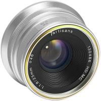 Объектив 7Artisans 25mm F1.8 Sony (E Mount) Silver